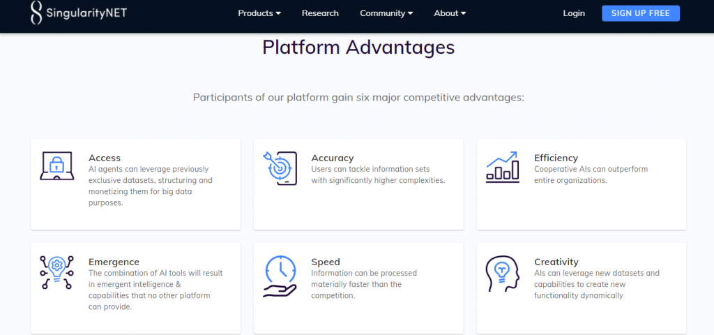 SingularityNet Review, SingularityNet Advantages