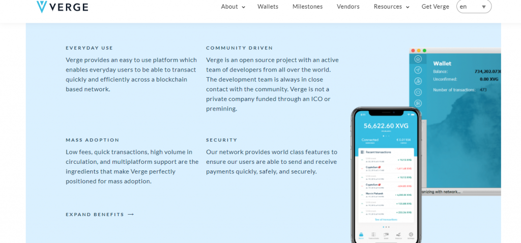 Verge Review, Verge Features