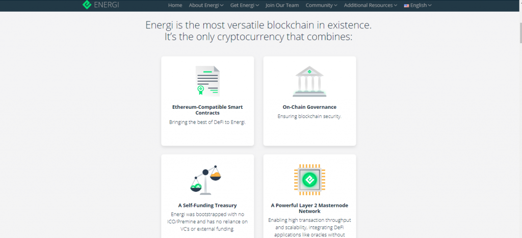 Energi Review, Energi Features