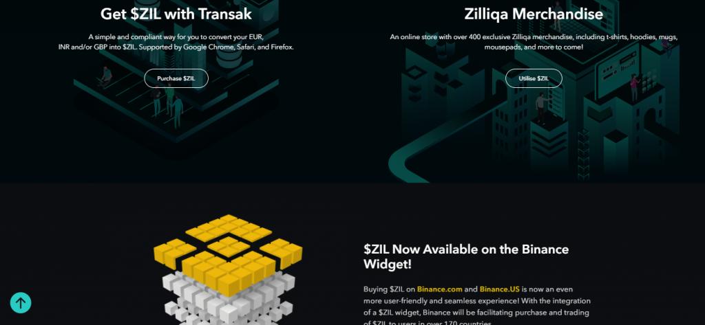 Zilliqa Review, Zilliqa Website