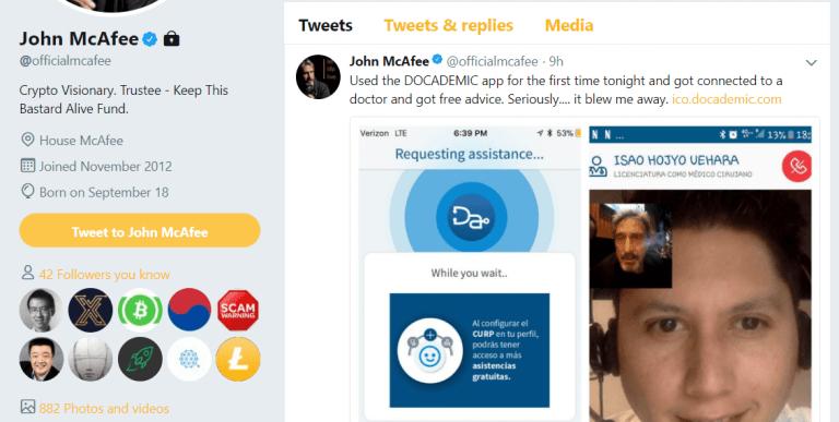 John McAfee Twitter schemes